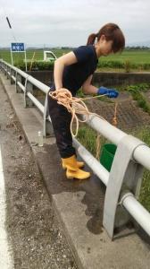 近隣河川の水質調査