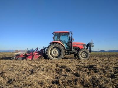 小麦播種開始